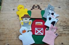 SALE 15 % OFF Old MacDonald Finger Puppets Busy Book  page : Everyones favorite Nursery song. Great addition to your childs Busy Book. - pinned by pin4etsy.com