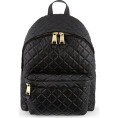 Moschino quilted backpack ($620) ❤ liked on Polyvore featuring ... : black quilted rucksack - Adamdwight.com