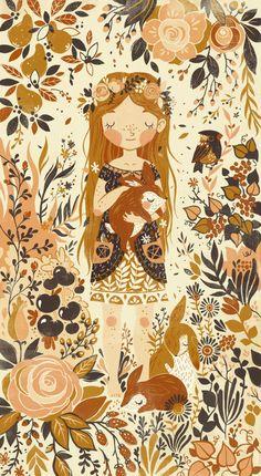 The Queen of Pentacles Art Print