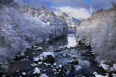 A Scottish river in winter by Gail Johnson
