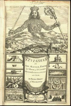 Thomas Hobbes, Leviathan, 1651 political theory outlining the concerns surrounding the structure of society and legitimate government. Upholds the importance of the social contract. Hobbes contended that the life of solitary man was poore, nasty, brutish and short, that people could not be trusted and therefore needed to enter into a social contract to ensure their conduct.