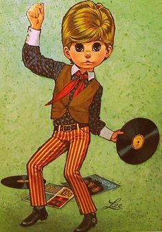 Yet another big eyed kid in the Keane style with a record. This one from Lee.