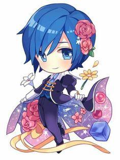 source: pixiv id 66815898 Vocaloid Kaito, Kaito Shion, Anime Chibi, Kawaii Chibi, Blue Hair Anime Boy, Vocaloid Characters, Miku Chan, Mikuo, Sailor Moon Wallpaper
