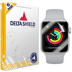 Price: (as of Jan 01,1970 00:00:00 UTC – Details)   DeltaShield Commitment:  We are 100% sure you will love DeltaShield BodyArmor military-grade Apple Watch Series 3 screen protectors that we are offering a hassle-free lifetime replacement warranty on every DeltaShield product. Should your protector ever wear, we will replace it. NO QUESTIONS ASKED!  Features of DeltaShield BodyArmor Military-Grade Screen Protectors for Apple Watch Series 3 (42mm):  Premium film used