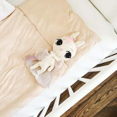 Get little ones off to the land of nod with a bit of help from this super soft baby comfort bunny by Dollcloud