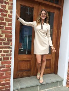Sail to Sable's Ponte on Perry Dress in cream