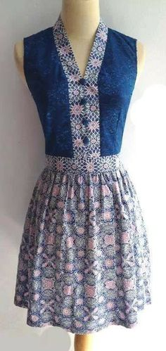 embos and batik dress
