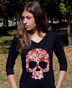 Sugar Skull Shirt Skull Shirts Skull Clothing Sugar #sugarskulls #dayofthedead #mysugarskulls #ring #sugarskullring #shoes #sugarskullshoes #ring #sugarskullring #ring #sugarskullring