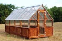 awesine cedar greenhouse No assembly required. I deliver to you ...