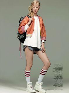 Harpers Bazaar UK Editorial July 2014 - Linn Arvidsson by Joachim Mueller Ruchholtz