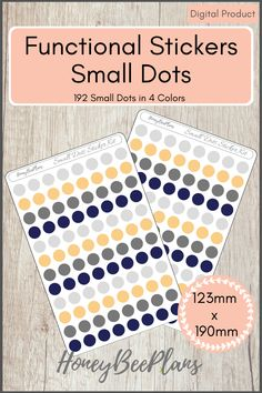192 Functional Small Dots stickers in 4 colors, Light Grey, Dark Grey, Blue and Beige. This sticker kit is designed for planning in your planner. Printable downloadable file allows you to print and cut either by hand or with a cutting machine of your choice. Printable Planner Stickers, Printables, Print And Cut, Dark Grey, Dots, Beige, How To Plan, Colors, Stitches
