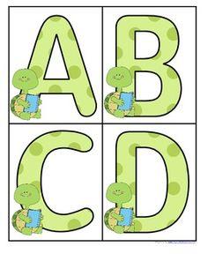 Turtles Theme Set of Large Alphabet Letters - FREE