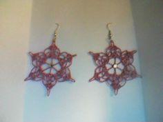 orecchini con filo metallizzato