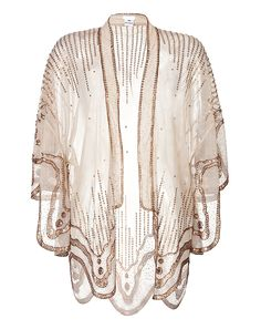 Sequin Embroidered Scalloped Kimono from ANNA SUI | Luxury fashion online | STYLEBOP.com