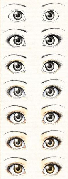 Глазки авторской кукле