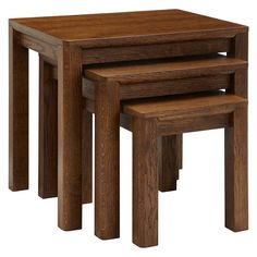 Argos Home - Arizona Nest of 3 Tables - Solid Pine Large Table, Small Tables, Side Tables, Furniture Care, Living Room Furniture, Solid Pine, Solid Oak, Pine Coffee Table