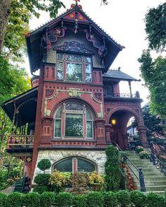 Victorian Townhouse, Victorian Homes, Homes England, Glass Brick, Chicago Usa, Kensington London, Interior Minimalista, New Orleans Homes, Brick Facade