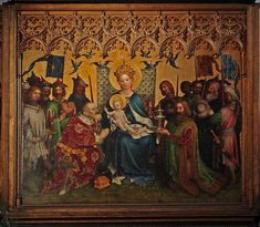 Panel central del Retablo de los patronos de Colonia,1 de Stephan Lochner, ca. 1450.