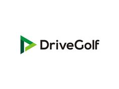 Drive Golf logo design: learning triangle, negative space flag by Alex Tass