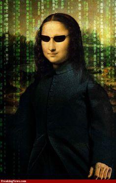 Mona Lisa Matrix Glasses