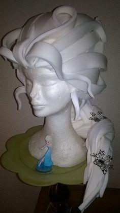 Elza Foam Wig/Frozen wig/Foam Wig/ Cosplay/Disney by LadyMallemour