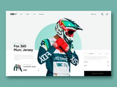 This shot is a concept of e-commerce for Fox company who sales different clothes and equipment for bicycle. Love Design, Print Design, Sport Design, Stand Design, Design Ideas, Graphic Design, Exhibition Booth Design, Exhibition Stands, Exhibit Design