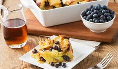 #FreshFromFlorida blueberries are in stores now! Here's a Blueberry Breakfast Casserole recipe that will knock your socks off!