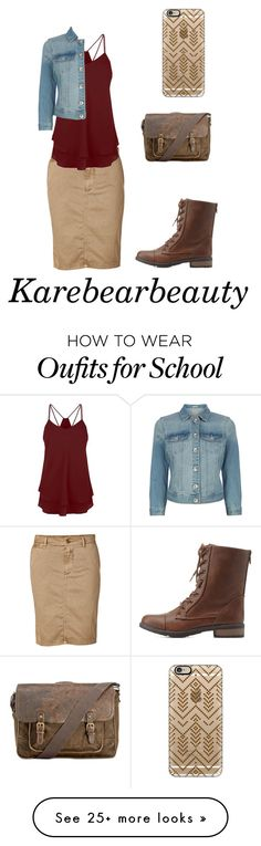 """""""School"""" by karebearbeauty on Polyvore featuring Closed, Oasis, Charlotte Russe, Patricia Nash and Casetify"""
