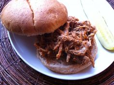 Slow Cooker BBQ Pulled Pork: make this meal on a busy day and come home to a delicious dinner. You will have leftovers for the freezer too. // A Cedar Spoon