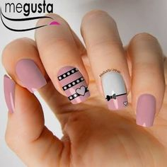 Resultado de imagen para unha rosa Cute Nails, Pretty Nails, Iris Nails, Bella Nails, Beauty Makeup, Hair Beauty, Nail Arts, Girly Things, Hair And Nails