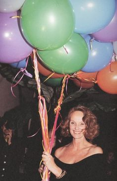 dinnerwithannawintour:  Grace Coddington at her 50th birthday party, 1991