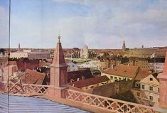 Eduard Gärtner's Panorama of Berlin, Right Half- 1834