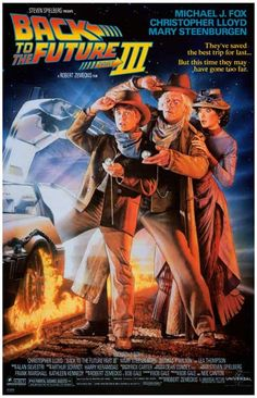 Back to the Future 3 Too Far Michael J Fox Movie Poster 11x17