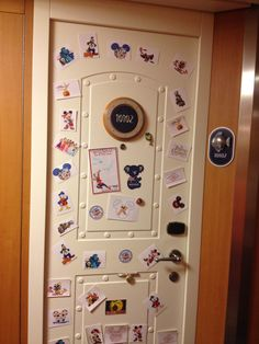 our stateroom door 101012 on our disney fantasy cruise.  lots of magnets as fish extender gifts from other families