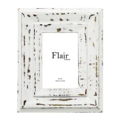FIVEMORE | Shabby Wood Carved Frame in White - Homeware - 5rooms.com