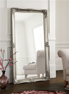 Pewter Floor Standing Mirror from Next. Pewter Floor Standing Mirror from Next. Home Bedroom, Bedroom Decor, Bedroom Mirrors, Large Bedroom Mirror, Giant Mirror, Next Bedroom, Mirrored Bedroom Furniture, Silver Bedroom, Bedrooms