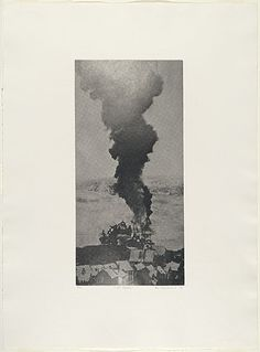Bea Maddock | War smoke, 1976 | ink; paper photo-etching,aquatint and stipple, printed in black ink, from one plate | NGA