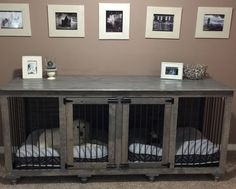 The Double Doggie Den™ Indoor Rustic Dog Kennel For Two