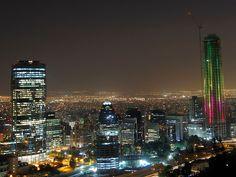 El Arbol de Navidad más grande.  Sanhattan.  Santiago de Chile