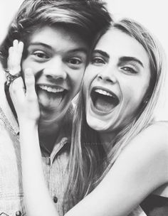 Cara Delevingne and Harry Styles. <<< I SHIP THEM c: