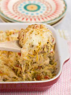 Baked Chicken Spaghetti Casserole Recipe - The Weary Chef