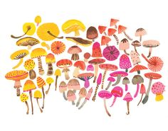 Mushrooms by CarolynGavinShop on Etsy