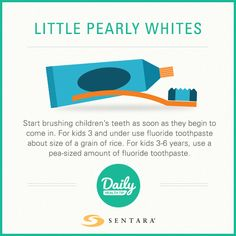 Teaching your children good dental habits early can lead to a healthy smile. Learn oral health tips and how to clean your child's teeth and prevent cavities. Daily Health Tips, Health Advice, Dental Kids, How To Prevent Cavities, Oral Health, Healthy Habits, 6 Years, Teeth, Improve Yourself