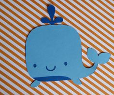 This is a listing for 3 Large Whale Die Cuts, which are great for Nautical Birthday parties, Baby Showers, or other events. They can be used