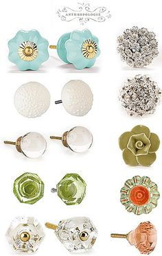 I love glass knobs! anthropologie knobs - my favorite thing about my dresser. Door Knobs And Knockers, Knobs And Handles, Knobs And Pulls, Drawer Pulls, Door Handles, Door Pulls, Drawer Handles, Dresser Knobs, Cabinet Knobs