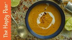 This sweet potato and Lime soup will take the chill out of your day and help you embrace the jumper weather and changing leaves. Soup Recipes, Whole Food Recipes, Vegan Recipes, Cooking Recipes, Diet Recipes, Happy Pear Recipes, Ginger Soup Recipe, Winter Soups, Sweet Potato Soup