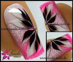No photo description available. Fabulous Nails, Gorgeous Nails, Pretty Nails, Beautiful Nail Designs, Beautiful Nail Art, Fancy Nails, Pink Nails, Toe Nail Designs, Gel Nail Art