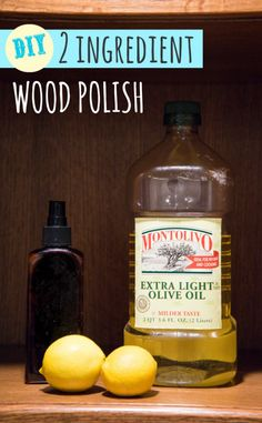 Make your own wood polish with 2 simple ingredients. So easy and is soooooo much butter from that nasty chemical stuff from the store.  Also, super cost effective!