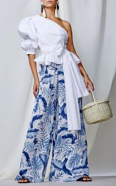 Exclusive Ivory Coast Stretch Cotton Poplin Top by Johanna Ortiz Women's Summer Fashion, Look Fashion, Womens Fashion, Fashion Design, Fashion Trends, Ladies Fashion, Fashion Ideas, Fall Dresses, Summer Dresses