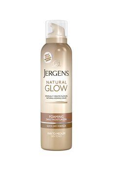 Brides.com: The 5 Best New Self-Tanners for a Wedding-Day Glow. If You Hate The Scent. Jergens's natural-looking gradual tanner has zero odor, so your wedding guests won't suspect a thing when they lean in for a hug. And we're hooked on the mousse texture—so easy to control.  Tanning tip: Build color by applying over several consecutive days.  Natural Glow Foaming Daily Moisturizer, $8.99, Jergens